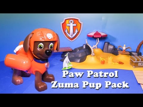 Paw Patrol Zuma Pup Pack and Hovercraft a Toy Unboxing