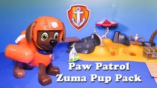 PAW PATROL Nickelodeon Paw Patrol Zuma Pup Pack a Paw Patrol Video Toy Review