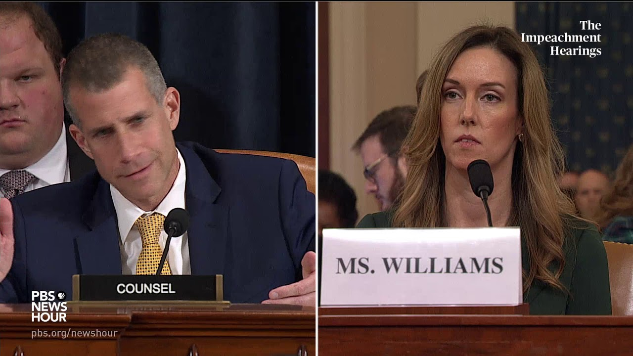 WATCH: Republican counsel's full questioning of Vindman and Williams | Trump impeachment hearings