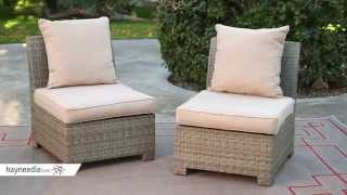 Coral Coast South Isle Natural Sectional Set With Coronado Gas Fire Pit Table - Product Review Video