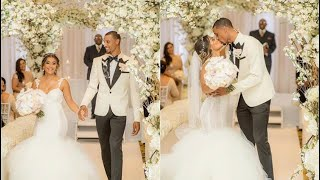 George Hill and  longtime girlfriend Samantha Garcia. wedding day