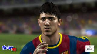 FIFA 11 Next-Gen Top Players Faces !! PC versions highest  graphics [HD]