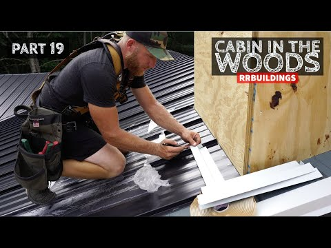 Cabin in the Woods Part 19: Finish Ceiling, Build Chimney