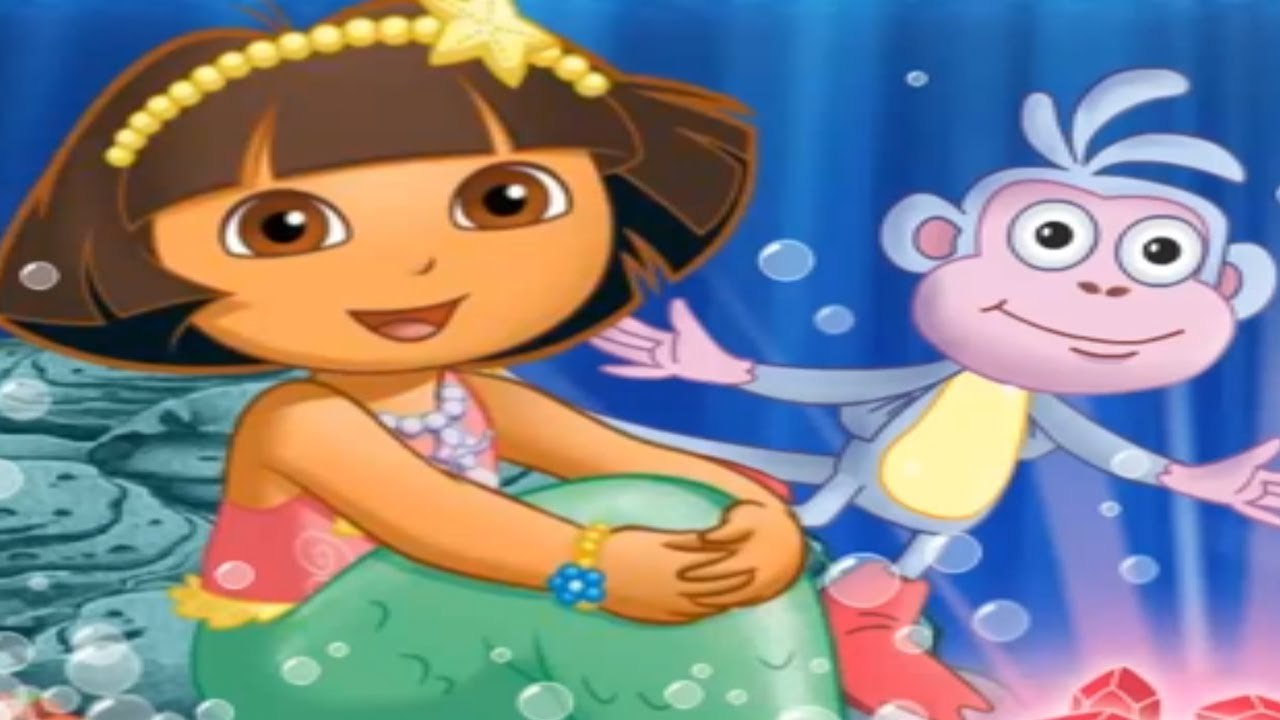 DORA THE EXPLORER - Dorau0027s Mermaid Adventures Movie Game | New Full Game HD (Children Game) - YouTube  sc 1 st  YouTube & DORA THE EXPLORER - Dorau0027s Mermaid Adventures Movie Game | New Full ...