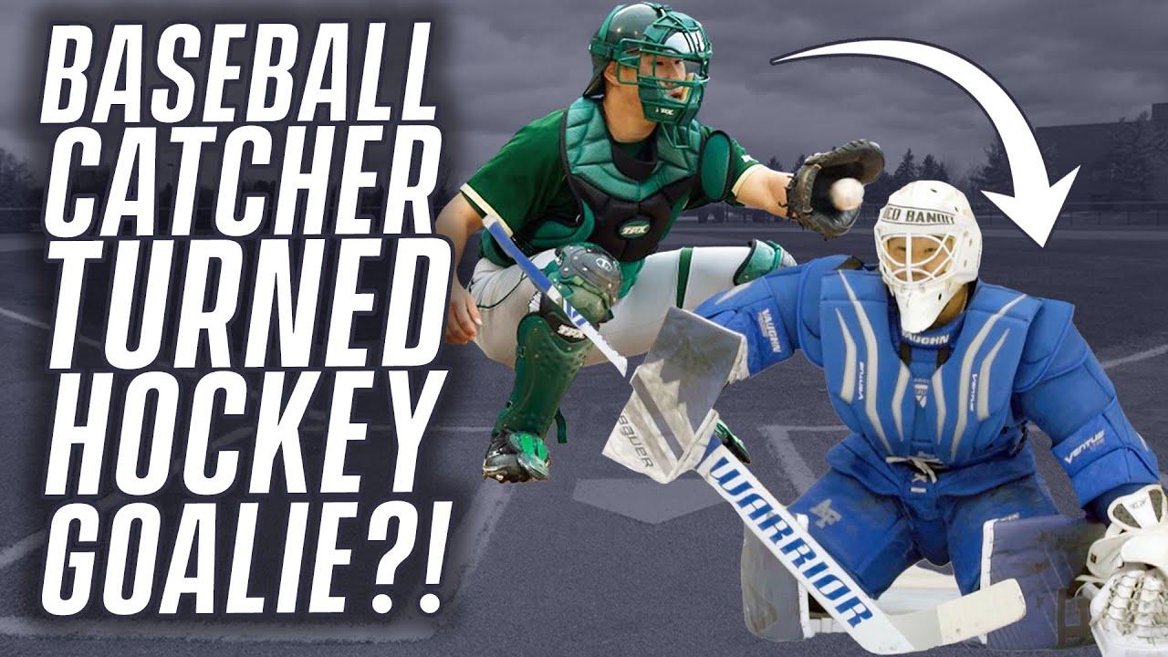 Baseball Catcher = Good Hockey Goalie?! | Eric Sim