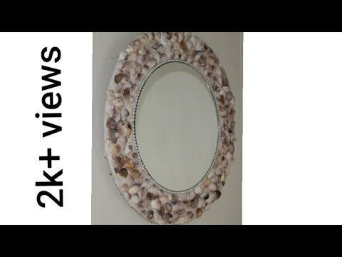 DIY  best  Mirror decor with sea shell! / sea shell craft/ craft using waste material!!