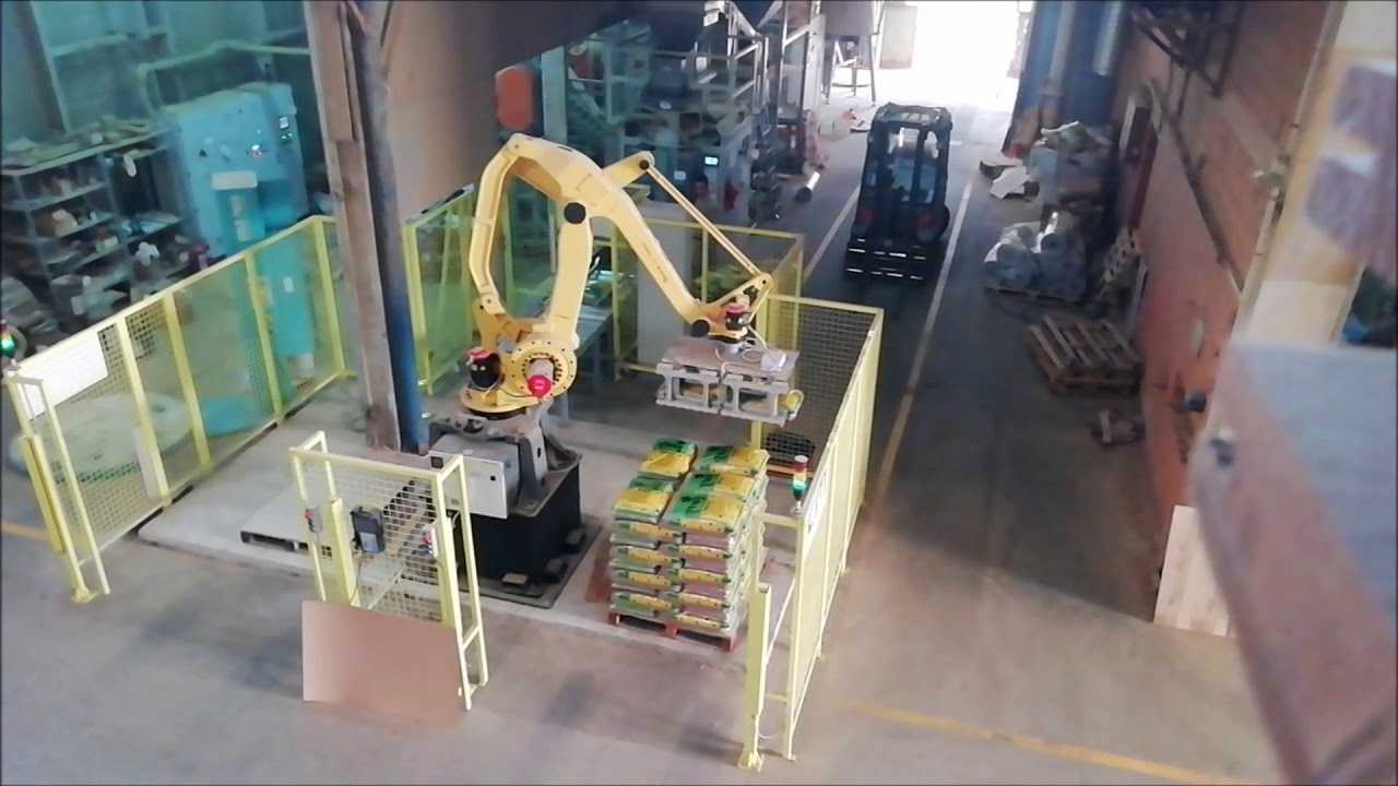 Robotic Palletising of Pellets