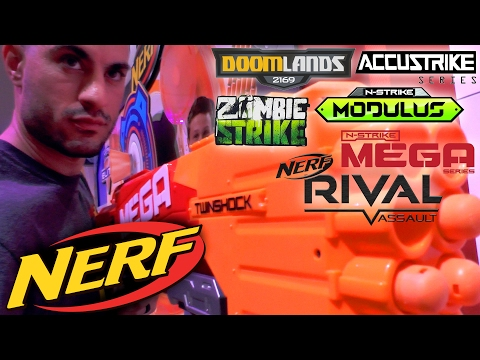 NEW! Nerf 2017 Blasters from New York Toy Fair (Spring & Fall)