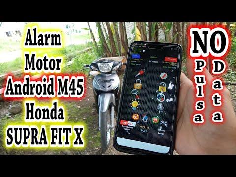 Alarm Android M45 Honda Supra FIT X | Alarm Motor Cirebon | Alarm Motor Tangerang