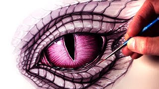 Painting a DRAGON EYE - Time Lapse