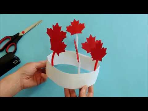 Maple Leaf Canada Day Hat Craft   Canada Day Craft For Kids   Easy Kids Crafts   Paper Crafts