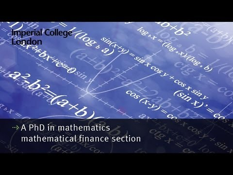 imperial college financial mathematics Imperial college london siam student chapter menu funding costs and capital requirements impact the valuation of financial , department of mathematics.