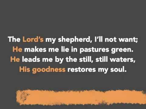 Psalm 23 (with Lyrics)
