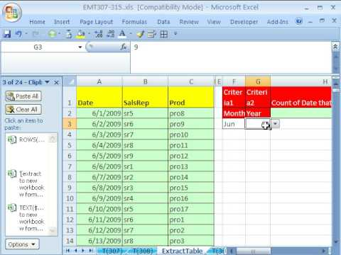 Excel Magic Trick 308: Extract Data To New Workbook W Formula