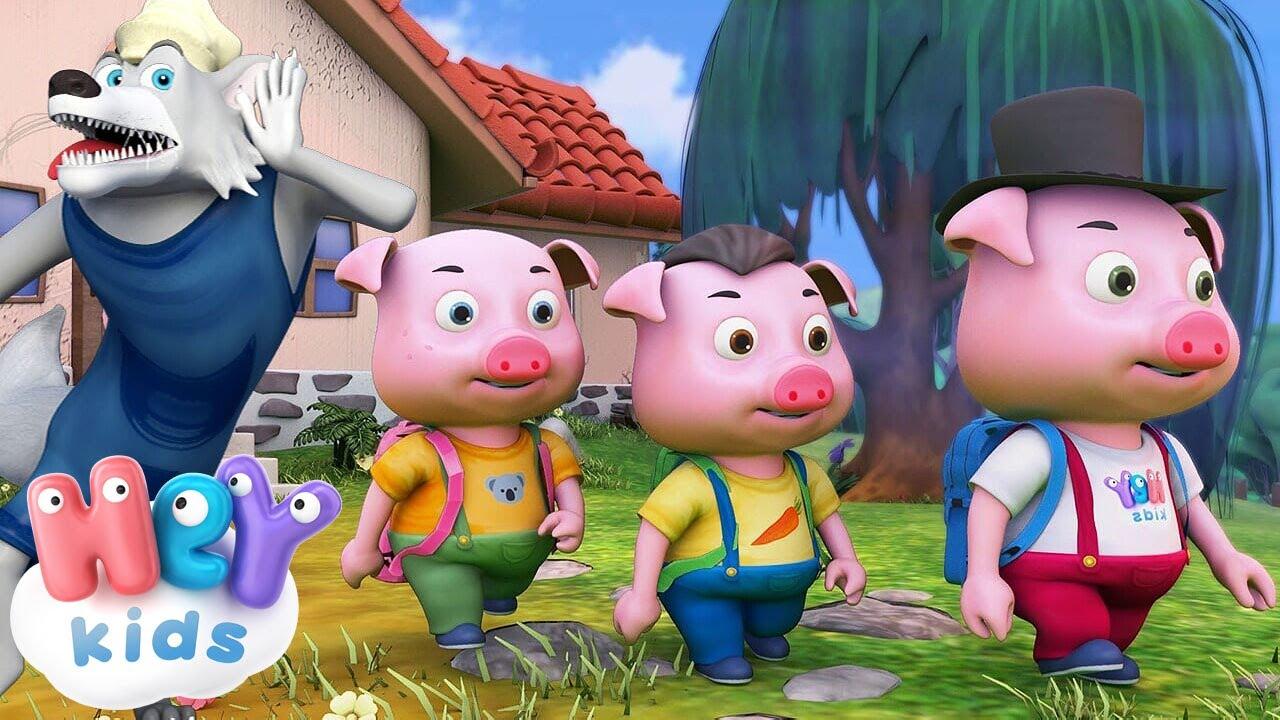 I Tre Porcellini fiaba in italiano 🐺 Cartoni animati e storie per bambini