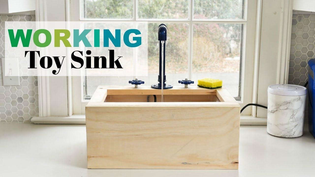 DIY Working Toy Sink - YouTube