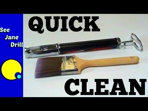 Fastest and Neatest Way to Clean Your Paintbrushes