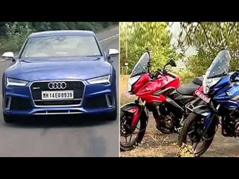 Car And Bike Show - Pulsar As 150 & 200, Audi RS7 exclusive & Mercedes-Benz E Carbrio