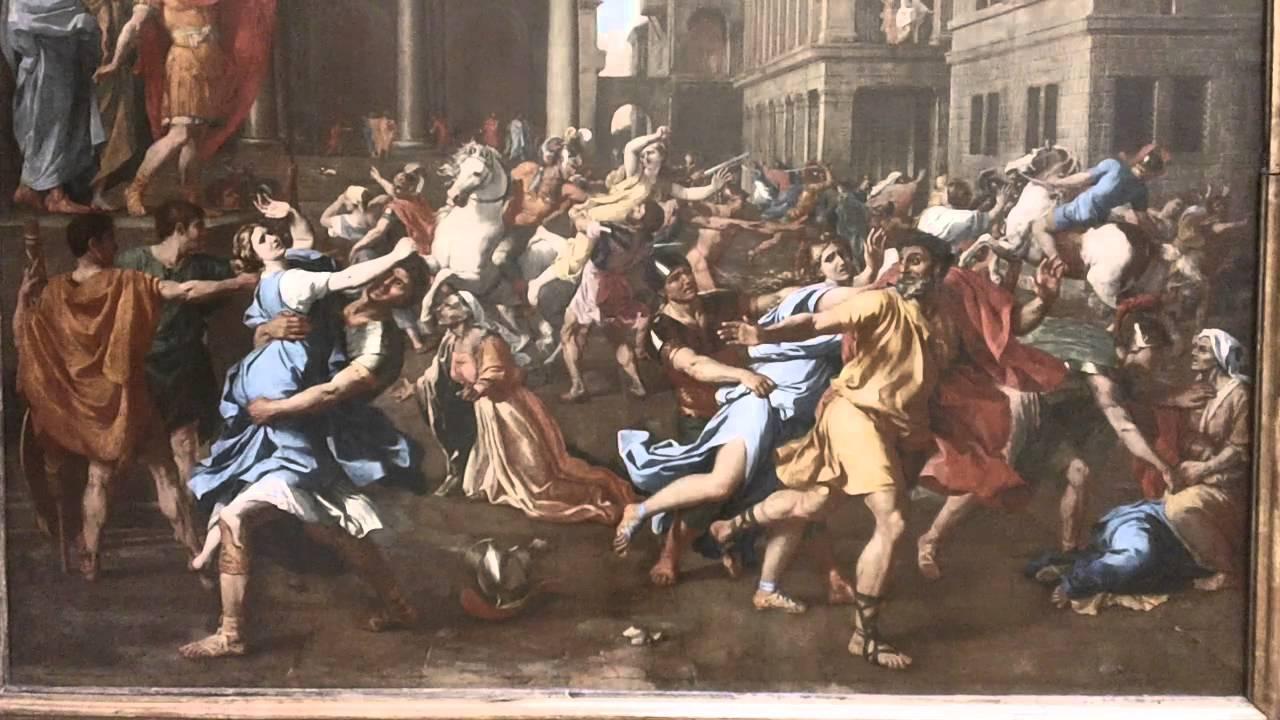 Top L'Enlevement des Sabines 1637-1638 Nicolas Poussin 1594-1665  RQ01