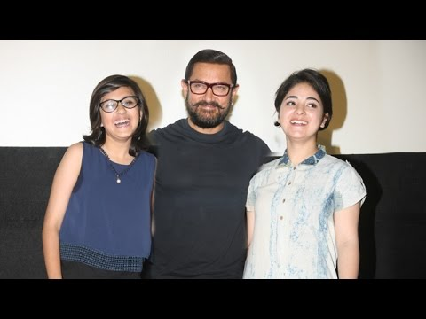 Haanikaarak Bapu   Song Launch - DANGAL - Aamir Khan,Suhani Bhatnagar,Zaira Wasim,Nitish
