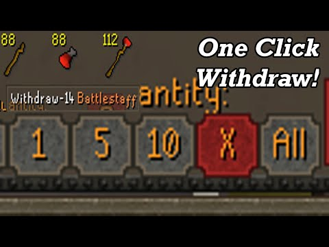 OSRS The One Click Withdraw Update (Discussion)