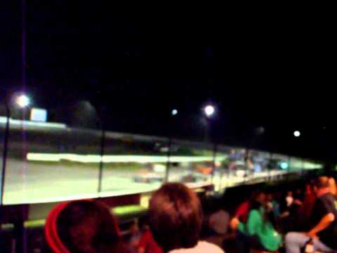 Supermodified race at Sandusky Speedway
