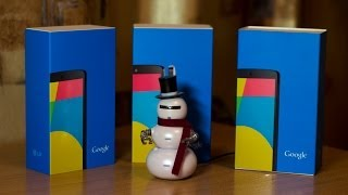 Распаковка трёх Nexus 5 32 ГБ