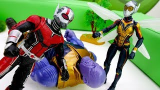 Человек Муравей и Оса против Таноса! Супергерои Марвел.