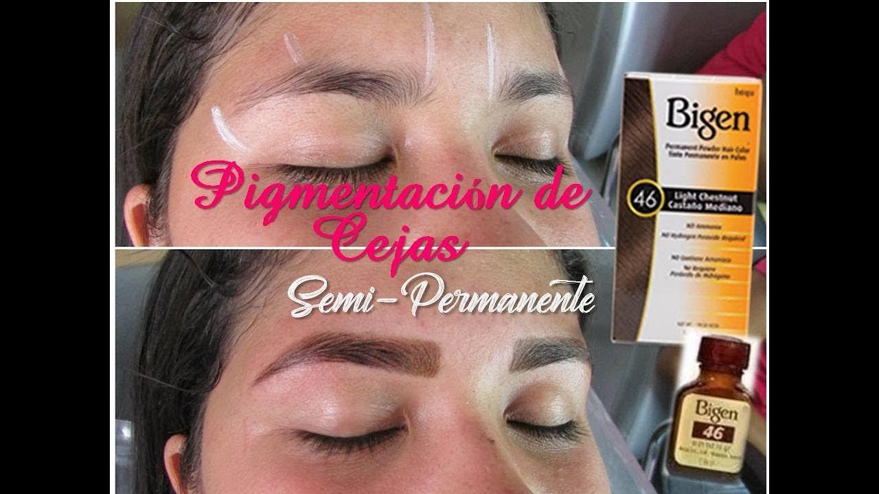 693d1bcca5 Pigmentacion de Cejas con Bigen - Eyebrow Pigmentation -  Augenbrauenpigmentierung