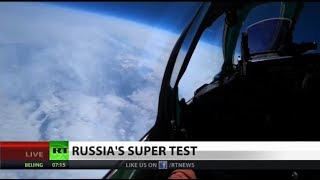 Russian MiG goes into the stratosphere