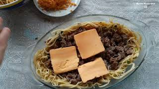 SPAGHETTI WITH MEAT AND EGGS RECIPE BY LIANNA ARAKELYAN