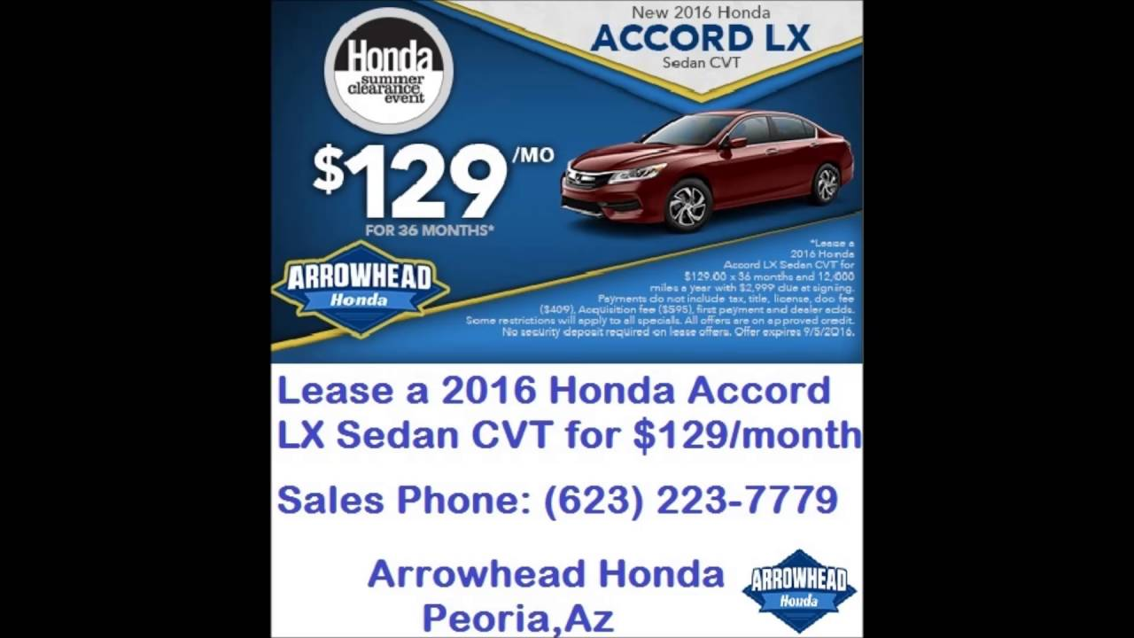 Honda Dealers Phoenix Arrowhead Honda   YouTube
