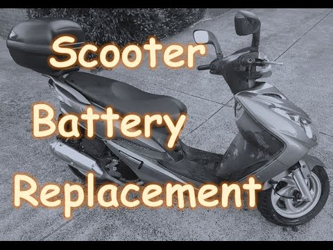 How To Replace A Motor Scooter Battery