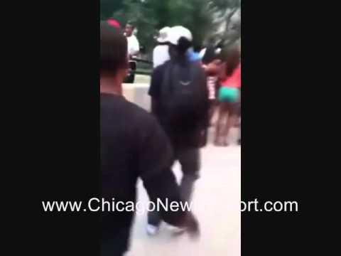 Black mobs leaving Chicago
