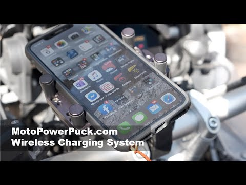 MotoPowerPuck Wireless Charging system for motorcycles and recreation vehicles