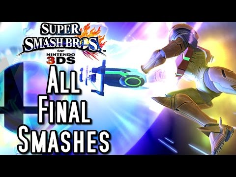 Super Smash Bros ALL Final Smashes (3DS)