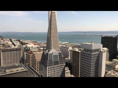 San Francisco City Skyline from 30th Floor of 555 California Street