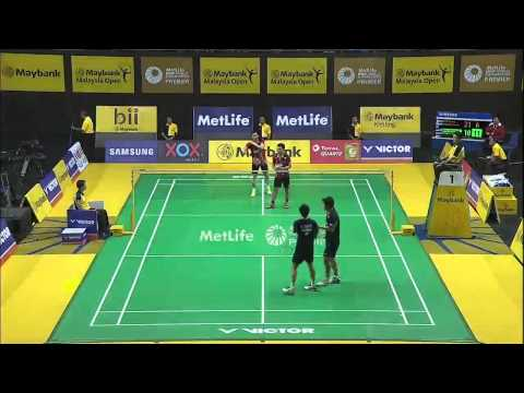 H. Endo/K. Hayakawa vs M. Ahsan vs H. Setiawan   MD QF Match 3 - Maybank Malaysia Open 2015