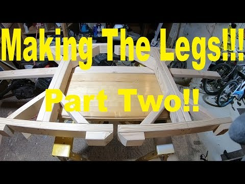 Table legs out of 2x4's Cheap.