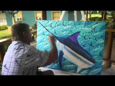 Panama Paradise: A Guy Harvey Expedition - creating the artwork