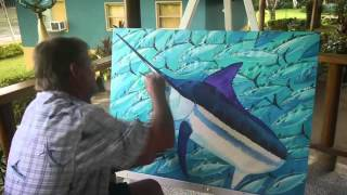 Panama Paradise: A Guy Harvey Expedition - creating the artwork