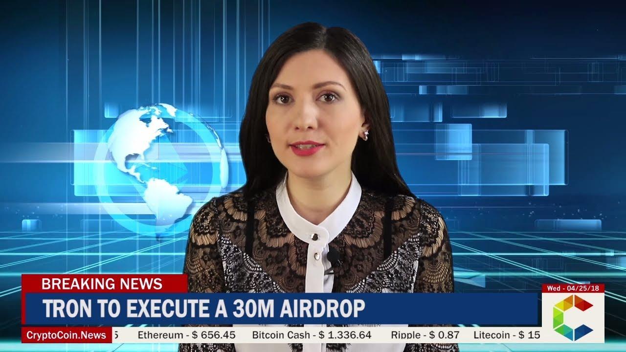 TRON Announces 30M TRX Airdrop - CryptoCoin News