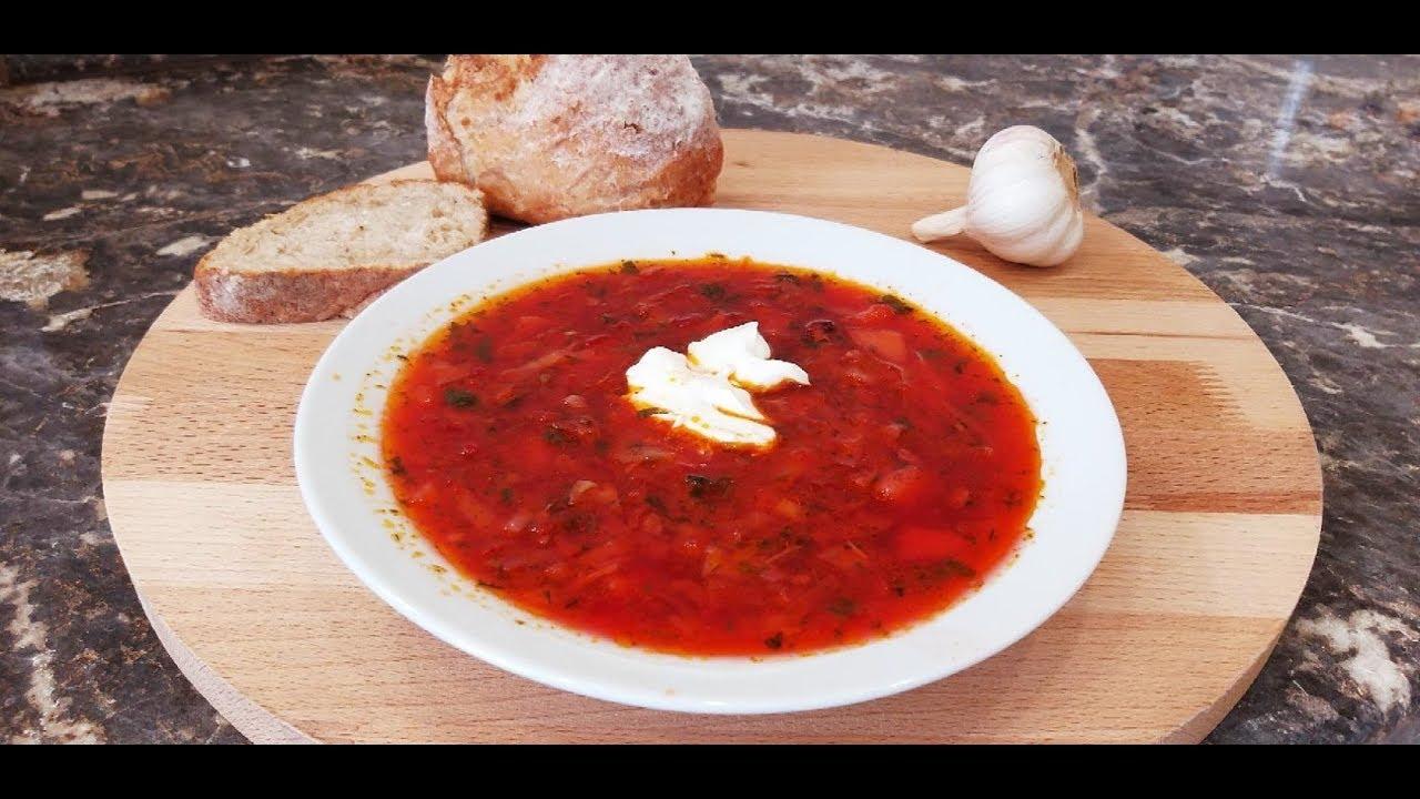 Борщ украинский. Очень вкусный классический рецепт. Как бабушка научила!