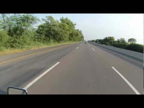 Islamabad to Lahore on Motorcycle via Motorway in HD - Part 4 of 7 Travel Video