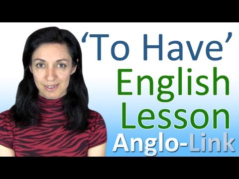 'To Have' - English Vocabulary Lesson
