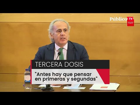 """Ruiz Escudero, sobre la tercera dosis de la vacuna: """"Antes hay que pensar en primeras y segundas"""""""