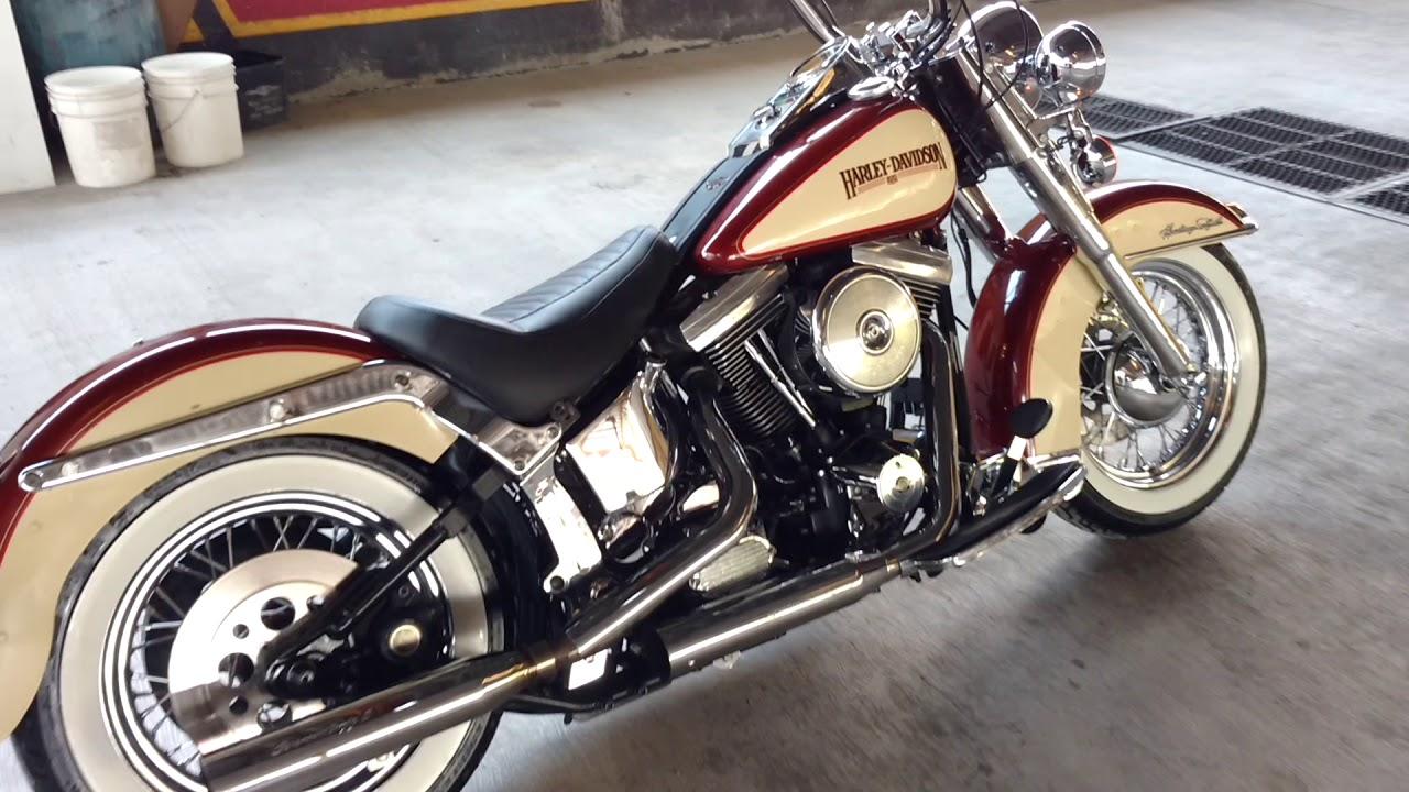 Harley-Davidson Heritage Softail 1989 EVO 1340cc - YouTube