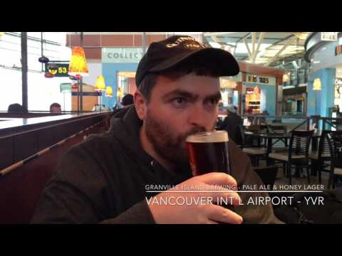 Granville Island Brewing Pale Ale & Honey Lager - Vancouver Int'l Airport (YVR) - 4K