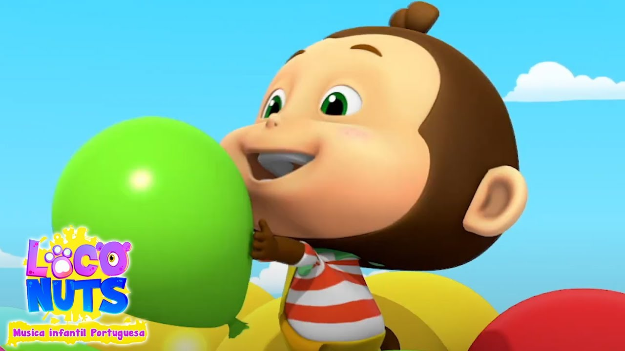 Canção de balão   Musica para bebes   Loco Nuts Musica infantil portuguesa   Animação