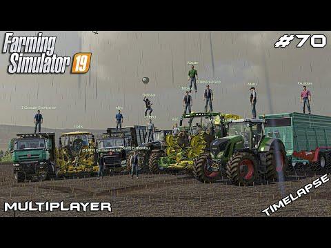 Harvesting silage in rain and mud | Ravensberg | Multiplayer Farming Simulator 19 | Episode 70 |